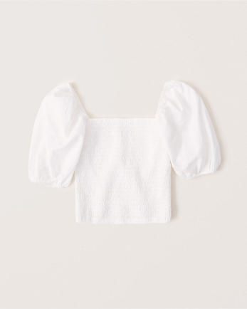 ANFPuff Sleeve Smocked Top
