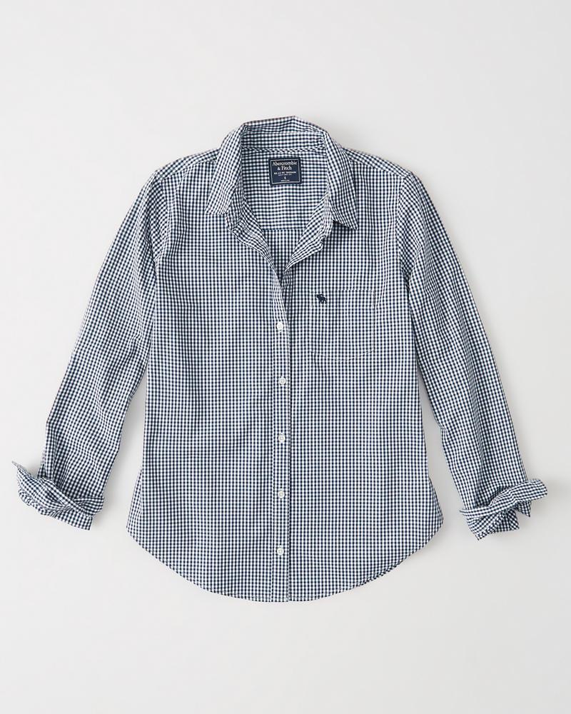 66f158a9d Womens Icon Poplin Shirt | Womens Sale | Abercrombie.com