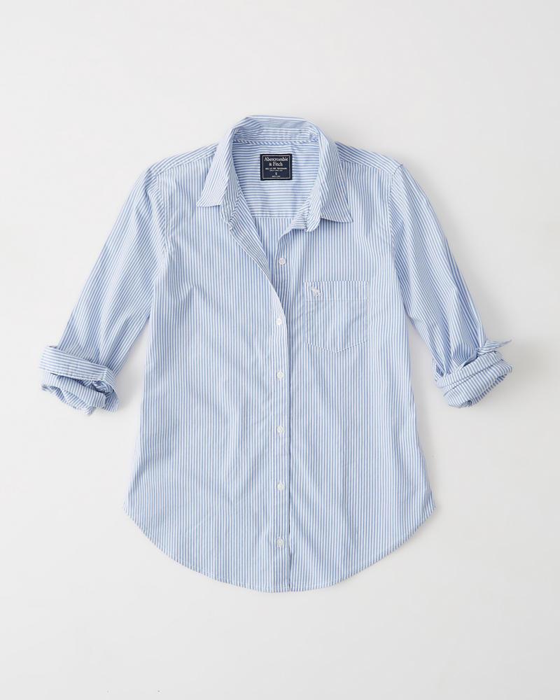 174a0c687 Womens Icon Poplin Shirt | Womens Tops | Abercrombie.com