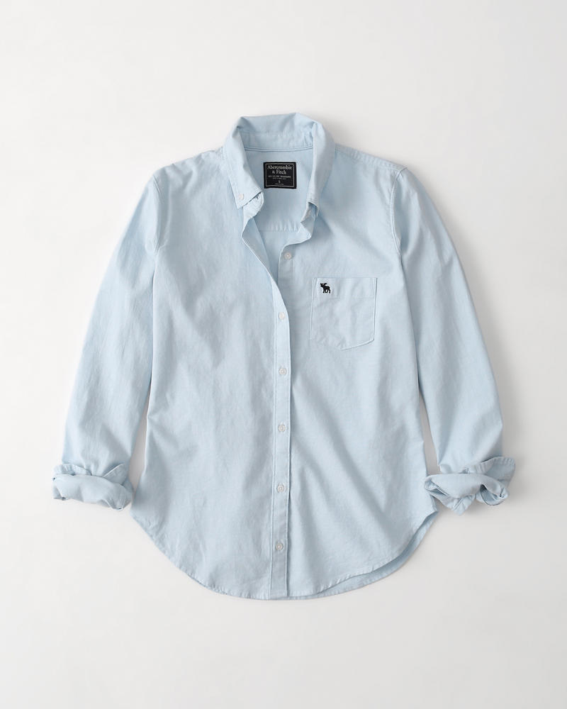 94ffbd616 Womens Icon Oxford Shirt | Womens Clearance | Abercrombie.com