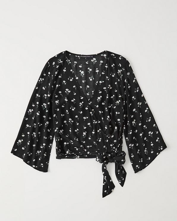 b5a822c0d1c Womens Wrap-Front Blouse | Womens Sale | Abercrombie.com