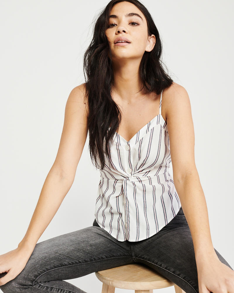 Knot Front Cami by Abercrombie & Fitch