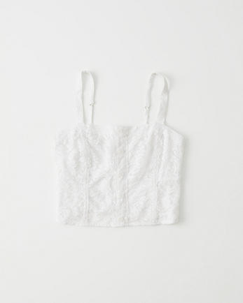 ANFCropped Lace Cami