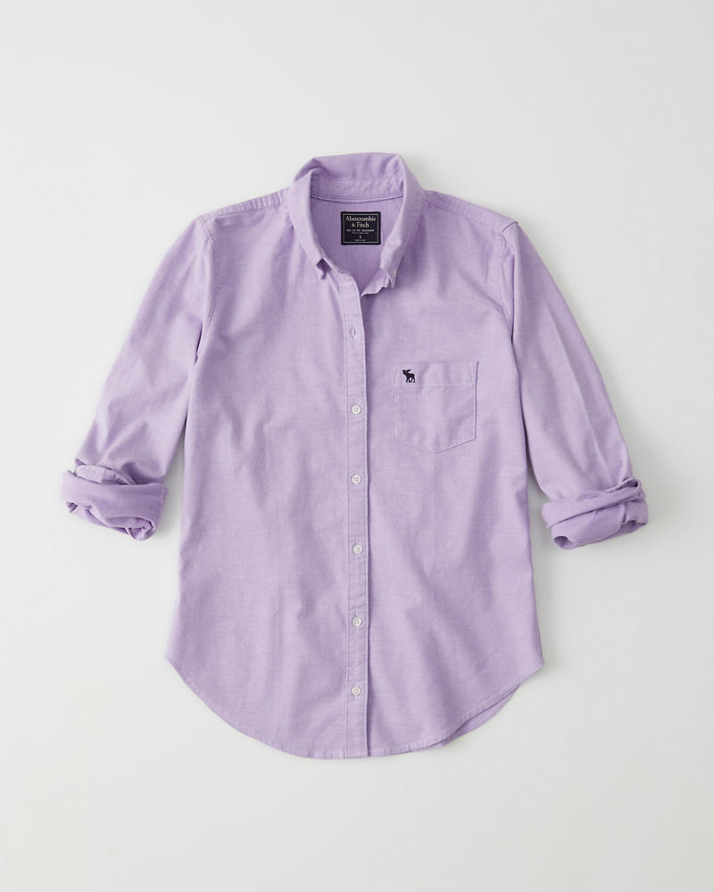Womens Oxford Shirt Womens New Arrivals Abercrombie
