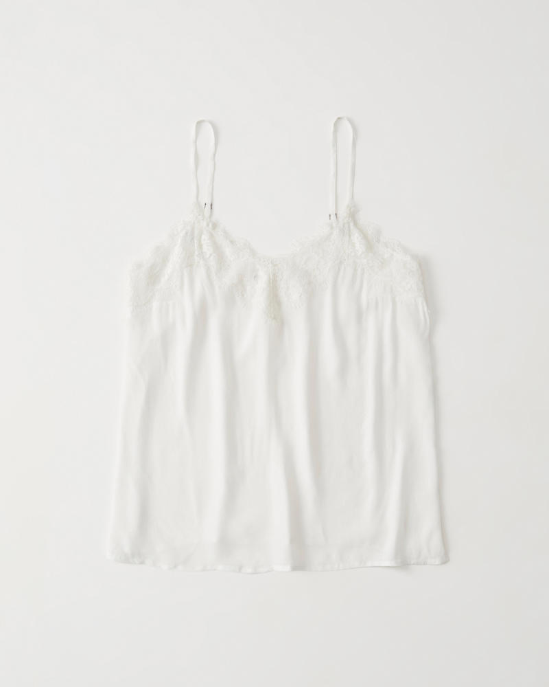 Lace Trim Cami by Abercrombie & Fitch