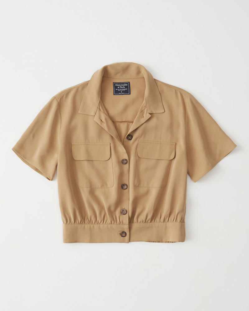 c0db3409bd8 Womens Short-Sleeve Utility Button-Up