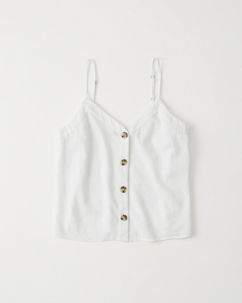 9f046848d8b Womens Button-Up Cami | Womens Tops | Abercrombie.com
