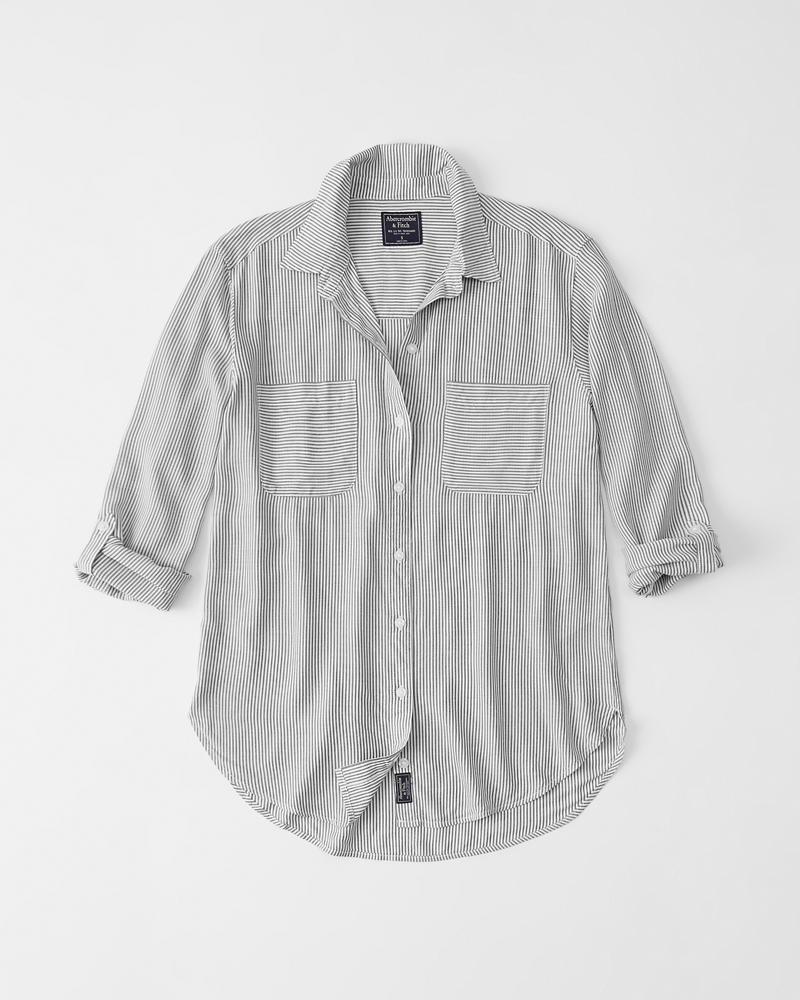 c5682dbfd4a Womens Slim Boyfriend Shirt | Womens Tops | Abercrombie.com