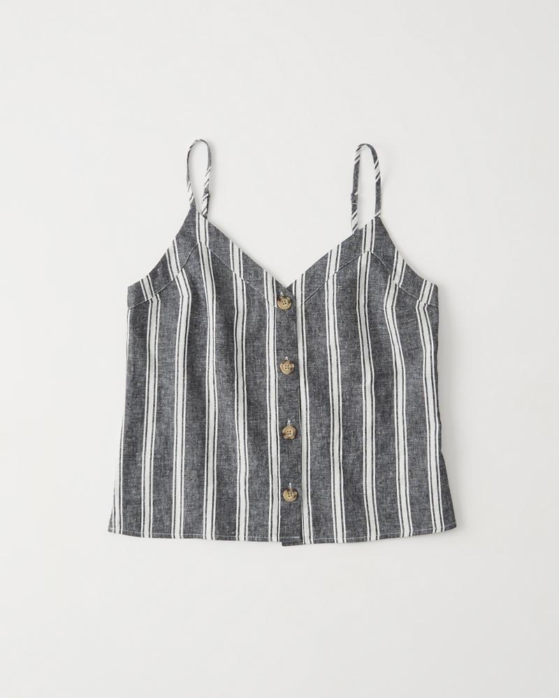 Mujer Camiseta de tirantes con botones  c1e08a8457198
