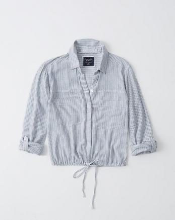 ANFCinched Hem Button-Up Shirt