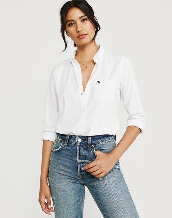 ebea8658 Womens Shirts & Blouses | Abercrombie & Fitch