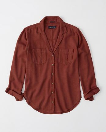 ANFLong-Sleeve Flannel Shirt