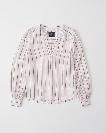 ANFMandarin Collar Shirt