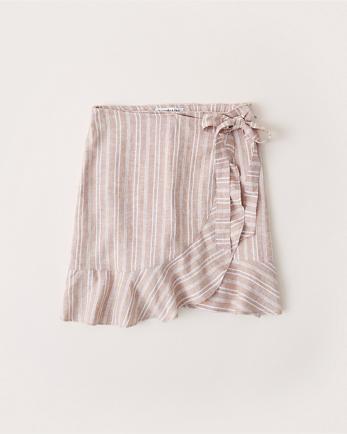 ANFLinen Wrap Mini Skirt