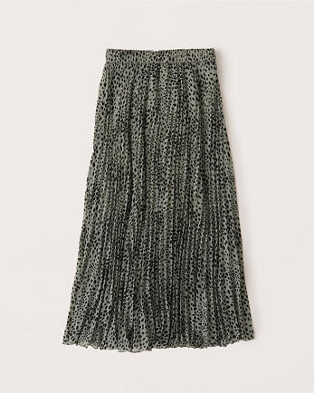 ANFPleated Midi Skirt