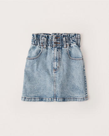 ANFHigh-Waisted Denim Mini Skirt