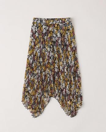 ANFPleated Midi Skirt