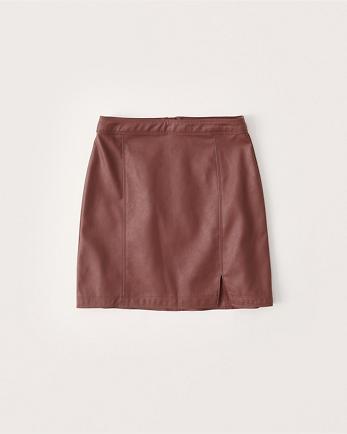ANFVegan Leather Mini Skirt