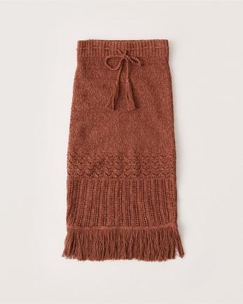 ANFSweater Knit Midi Skirt