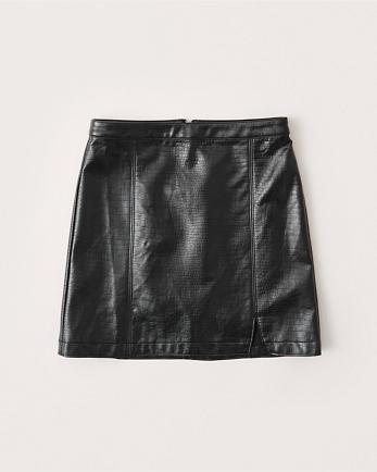 ANFVegan Crocodile Mini Skirt