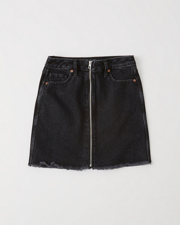 68a82b18d Womens Zipper Denim Mini Skirt | Womens Clearance | Abercrombie.com