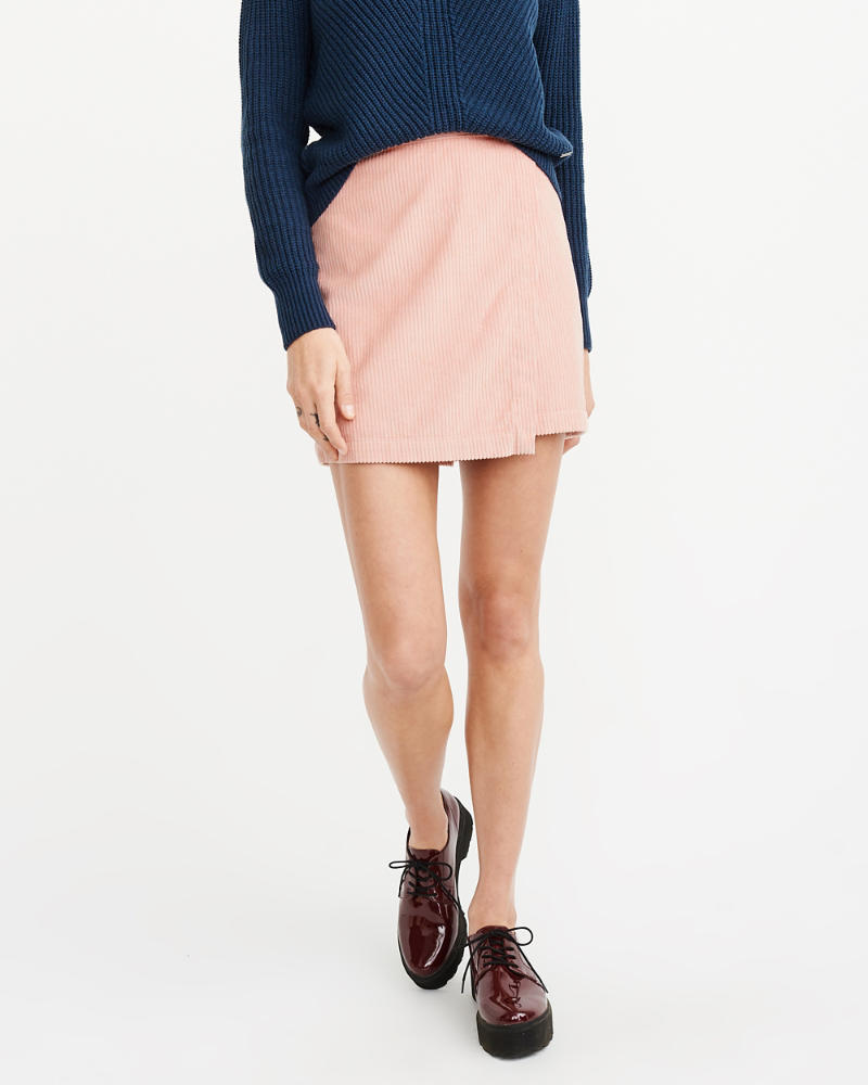 28fb7899a1 Womens Corduroy Wrap-Front Mini Skirt | Womens Sale | Abercrombie.com