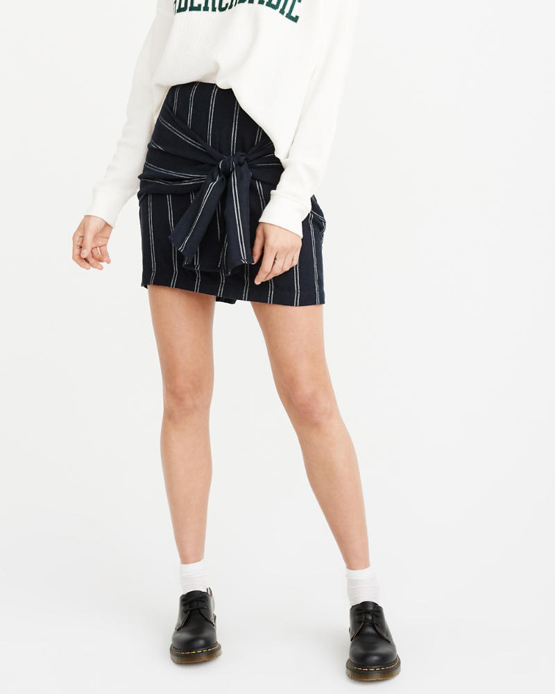 Knot Front Mini Skirt by Abercrombie & Fitch