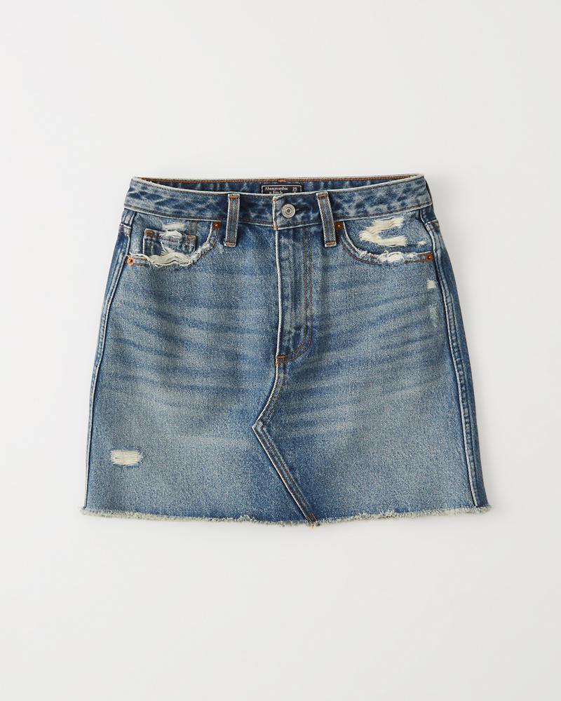 0f5802bf9c857c Womens Denim Mini Skirt | Womens Bottoms | Abercrombie.com