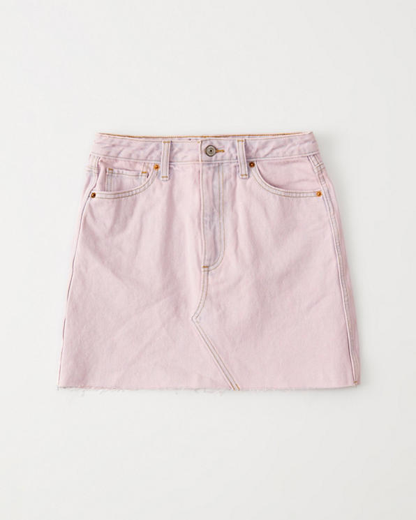 c5007ae81 Mujer Minifalda de denim, rosa | Mujer Liquidación | Abercrombie.com
