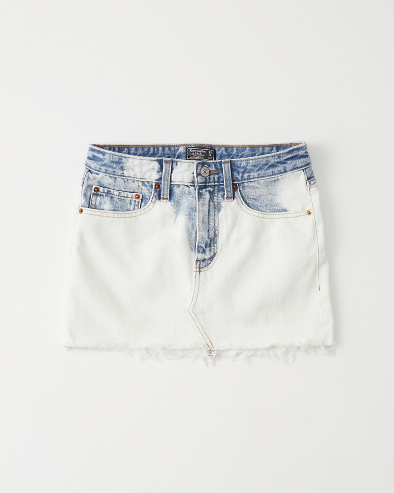 76b6a4b84c Womens Light Wash Micro Mini Denim Skirt | Womens Bottoms ...