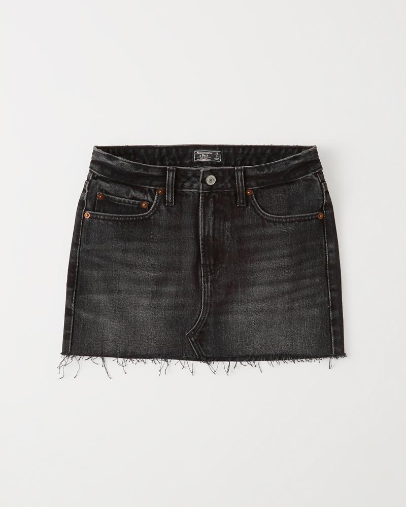 13419cf96b Womens Black Denim Micro Mini Skirt | Womens Clearance | Abercrombie.com