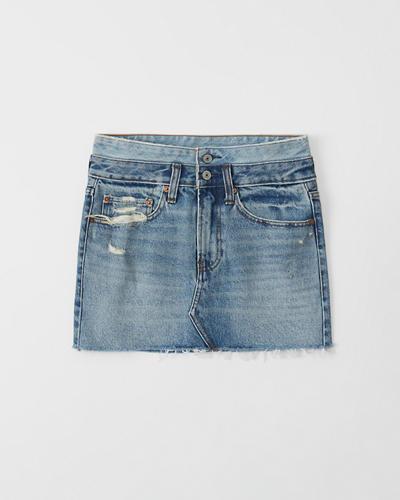 627949a5862fb5 Womens Double Waist Micro Mini Denim Skirt | Womens Bottoms ...