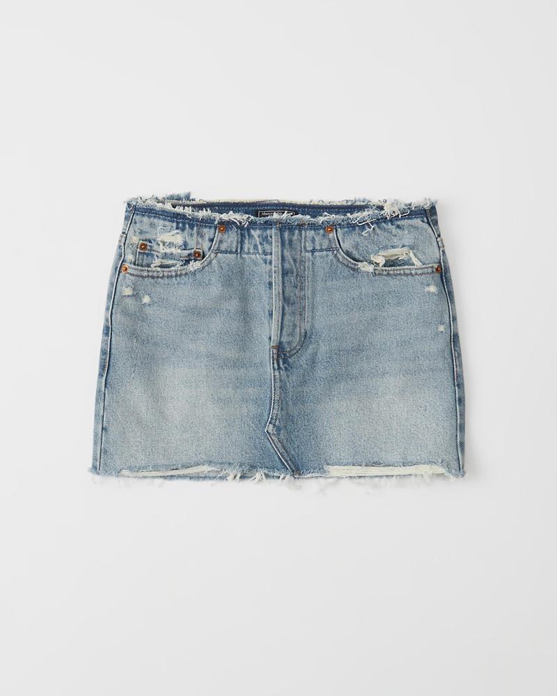 dab6d53d8fa157 Removed Waist Micro Mini Denim Skirt | Abercrombie.sg