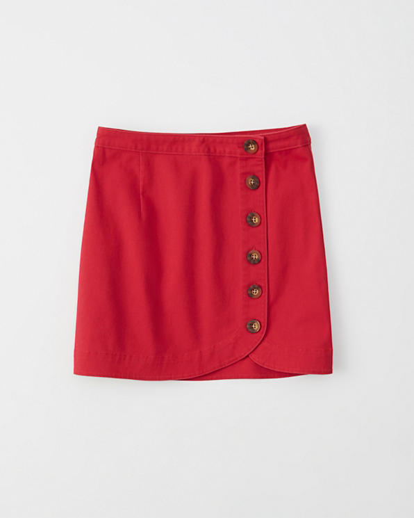 80c5cb1e3 Womens Button-Front Mini Skirt | Womens Clearance | Abercrombie.com