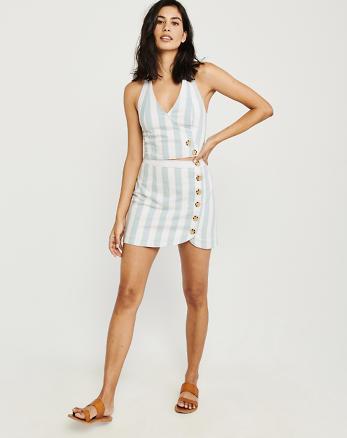 86d049f28f2 Button-Up Mini Skirt