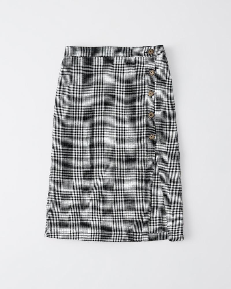 a992e290211 Femme Jupe mi-longue boutonnée en lin
