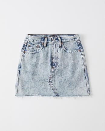 ANFAcid Wash Denim Mini Skirt