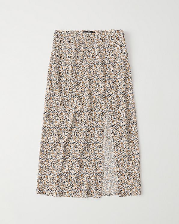 af6bc9ed2a18 Womens Side-Slit Midi Skirt | Womens Bottoms | Abercrombie.com