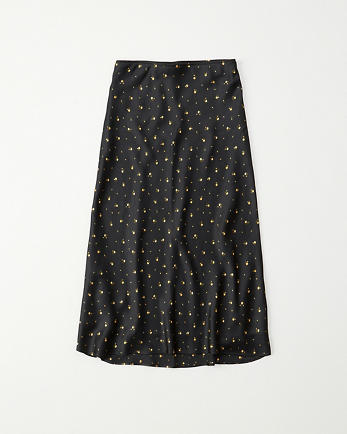 ANFSatin Midi Skirt