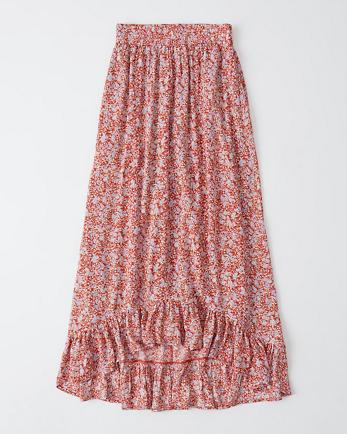 ANFRuffle-Hem Maxi Skirt