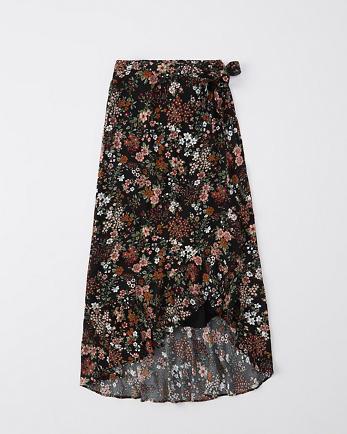 ANFRuffle Wrap Midi Skirt