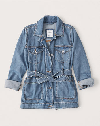 ANFBelted Denim Jacket