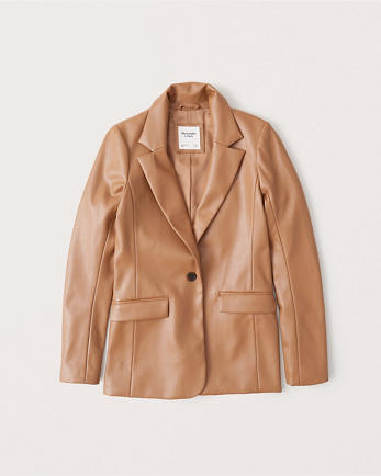ANFFaux Leather Blazer