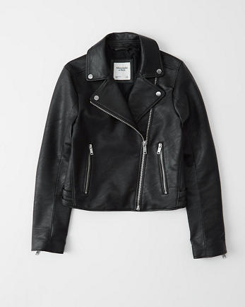 ANFThe Faux Leather Moto Jacket