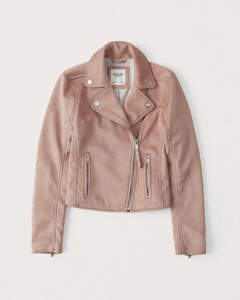 ANFFaux Suede Moto Jacket