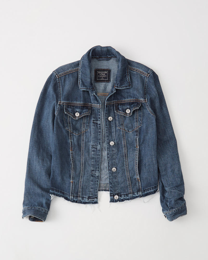 womens denim jacket womens clearance abercrombie com