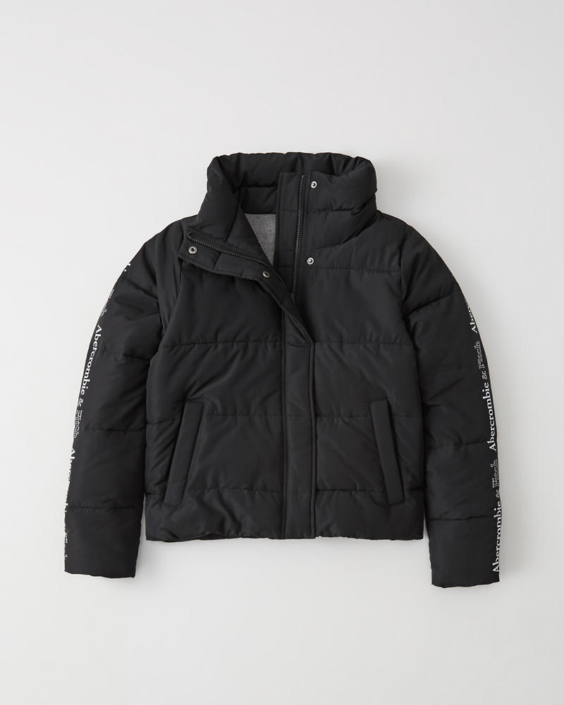 Logo Ultra Mini Puffer by Abercrombie & Fitch