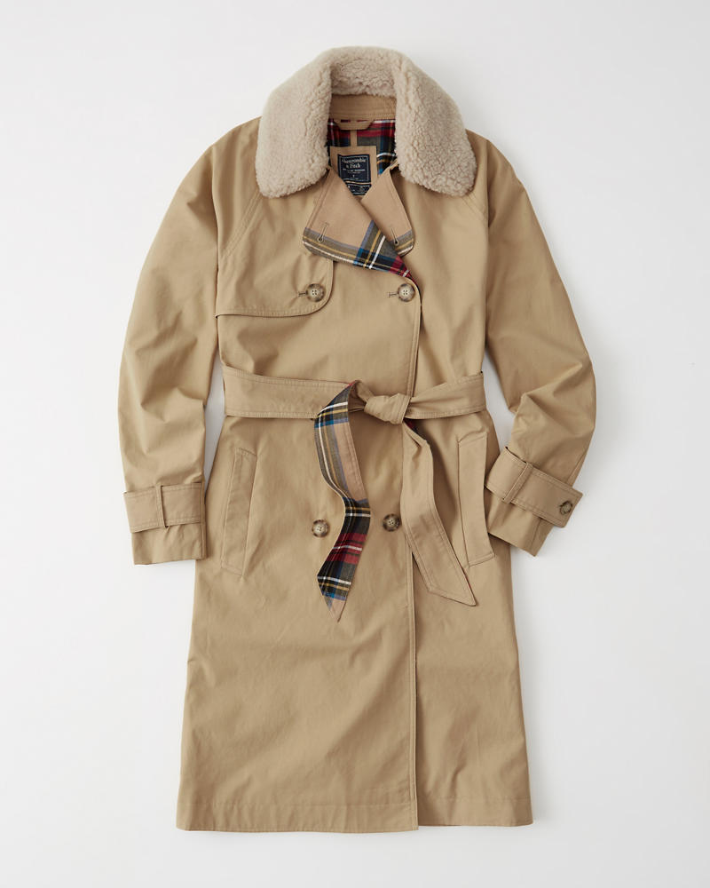 Womens Winter Trench Coat Womens Coats Jackets Abercrombiecom