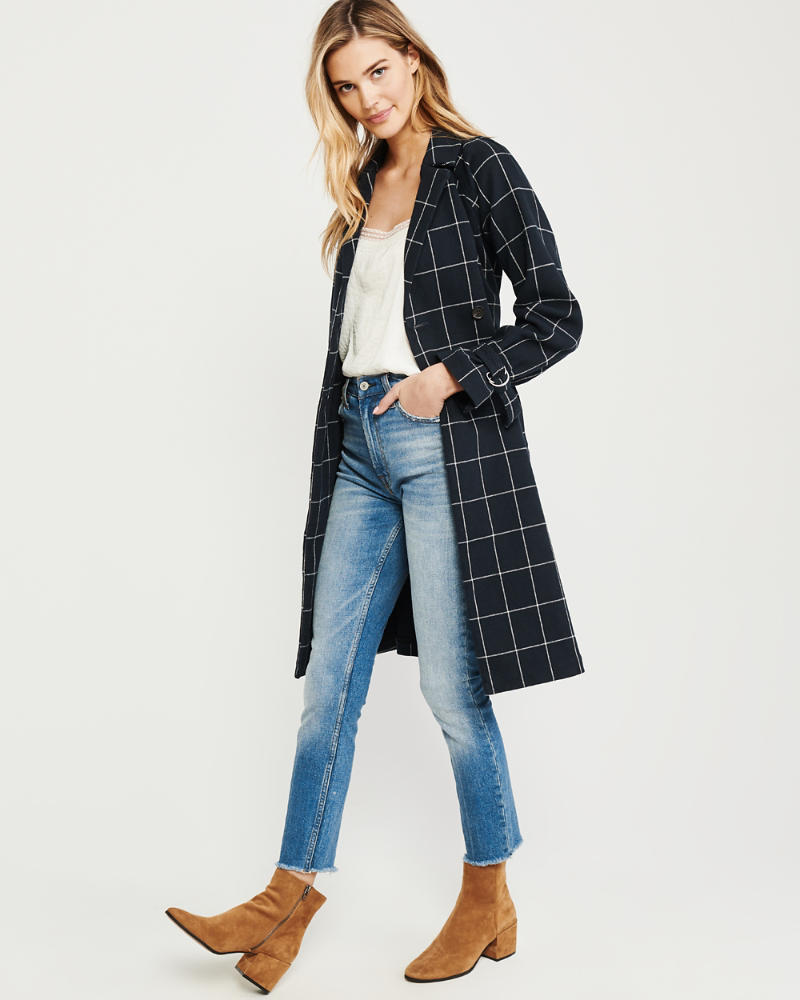 Cotton Trench by Abercrombie & Fitch