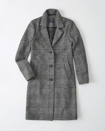 ANFWool-Blend Dad Coat